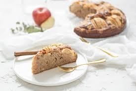 zuckerfreier und veganer dinkel apfelkuchen einfach