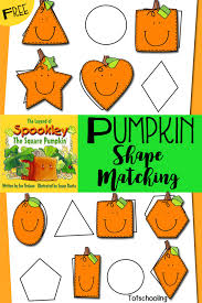 Printable Pumpkin Books For Preschoolers by Pumpkin Shape Matching Inspired By Spookley The Square Pumpkin