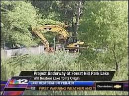 Forest Hill Park Lake Restoration Underway
