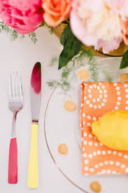 Coral Color Decorations For Wedding by Coral Pink And Yellow Citrus Wedding Summer Wedding