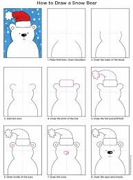How To Draw A Snow Bear Art Projects For Kids