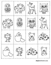 Free Coloring Page And Memory Game For Kids