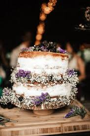 Rustic Wedding Cakes Small Naked With Baby Breath India Earl