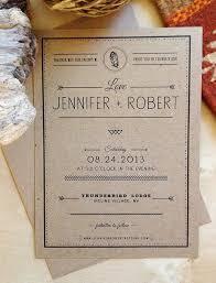 Rustic Kraft Paper Wedding Invitation Boho Inspired By Ohnala