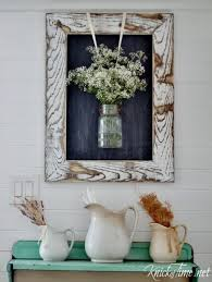 DIY Farmhouse Chalkboard With Rustic Wooden Frame