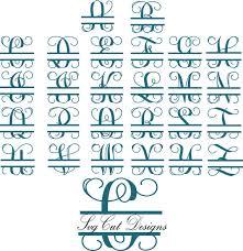 Split letter SVG Split Monogram Letters Split Alphabet svg files