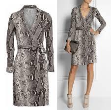 diane von furstenberg python print silk new jeanne two wrap dress