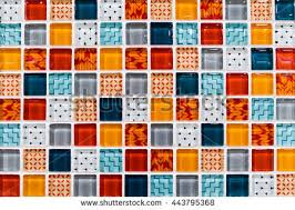 colorful ceramic mosaic tiles white light stock photo 443795368