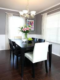 Two Tone Grey Walls Chair Rail Molding Divides Toned In This Neutral Dining Room