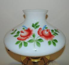 Aladdin Lamp Oil Canada by 23 Aladdin Brass Lamp Oil Kerosene W Hand Painted Roses Glass