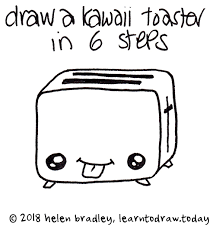 Learn To Draw A Kawaii Toaster In 6 Steps