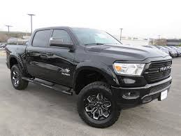 100 Black Truck Box New 2019 RAM AllNew 1500 SCA Widow Big Horn Crew Cab In