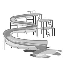 Waterslide In Pool Icon Gray Monochrome Style Vector