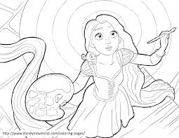 Related Coloring Pages Barbie Rapunzel Colouring Castle Free Online Full Size