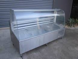 CURVED GLASS REFRIGERATED DISPLAY FRIDGE WITH UNDER S