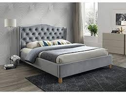 sellon24 signal polsterbett doppelbett ehebett grau samt bezug gesteppt 160x200 schlafzimmer bett luxuriös aspen