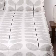 Scribble Stem Bedding Concrete Grey Luxury Bedding & Bed Linen