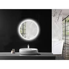 led lichtspiegel silver space durchmesser 60 cm