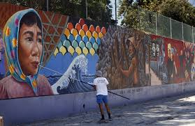 Famous Mural Artists Los Angeles by L A U0027s Judith Baca Wins 50 000 Award Breaking Ground For Mural