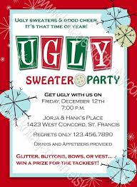 Party Invitations Breathtaking Ugly Sweater Christmas Template Design To Make Invitation Wording