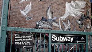 Big Ang Mural Brooklyn by New York July 3 2015 Subway Station With Birds And Biggie