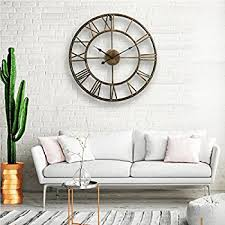 LightInTheBox 20H Country Style Metal Wall Clock Home Decor Clocks