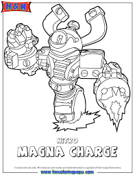 Skylanders Swap Force Tech First Edition Nitro Magna Charge Coloring Page