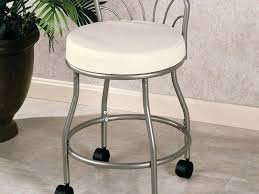Lecia Vanity Chair Bathroom Furniture Gray Polished Wrought Iron