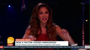 Nicole Scherzinger Shower by X Factor Nicole Scherzinger Sharon Osbourne And Louis Walsh