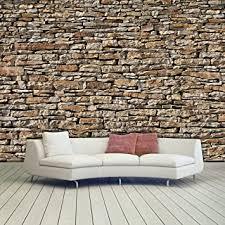 murimage fototapete steine 3d 366 x 254cm wand mauer steinwand wallpaper wohnzimmer inklusive kleister