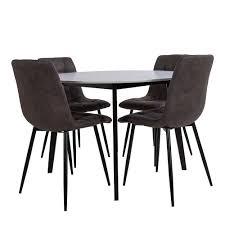 esszimmer sitzgruppe mit rundem esstisch skandi design 5 teilig
