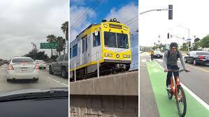 Lamps Plus La Brea Ave by Dtla To Santa Monica Car Vs Train Vs Bike Hollywood Reporter