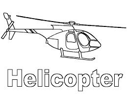 Printable Helicopter Coloring Pages