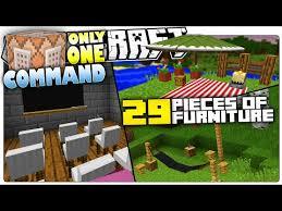 minecraft 5 custom commands that add 29 new furniture in