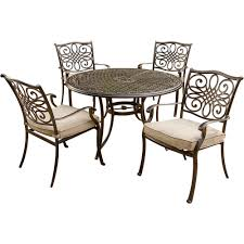Hanover Traditions 5-Piece Aluminum Round Outdoor Dining Set With  Protective Cover And Natural Oat Cushions Plastic Ding Chair Covers Amazing Room Seat Hanover Traditions 5piece Alinum Round Outdoor Set With Protective Cover And Natural Oat Cushions Amazoncom Yisun Modern Stretch 10 Best Of 2019 For Elegance Aw2k Spandex Polyester Slipcover Case Anti Dirty Elastic Home Decoration Cheap New Decorative Coversbuy 6 Free Shipping Protectors Ilikedesignstudiocom Chairs 4pcs 38 Fresh Stocks Leather Concept In Fabric Slip Covers For Hotel Banquet Ceremony Hongbo 1pcs Minimalist Plant Leaves