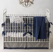 Stripe & Vintage Airplane Blueprint Nursery Bedding Collection
