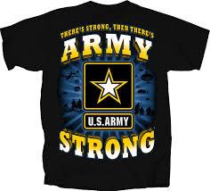 army strong burst t shirt black