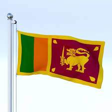 Animated Sri Lanka Flag 3d Model Obj Fbx Stl Blend Dae Mtl 4