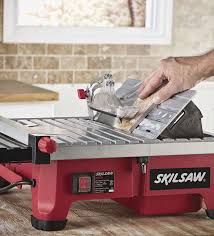 skil 3550 02 7 inch wet tile saw with hydrolock water containment