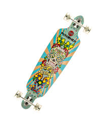 Types Of Longboard Decks by Amazon Com Punisher Skateboards Day Of The Dead Drop Through