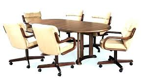 Dining Chair Caster Furniture Swivel Dining Chairs With Casters