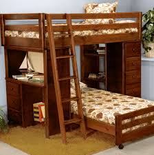 bunk bed with futon and desk home design ideas