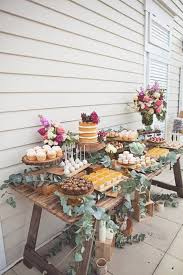 Rustic Bridal Shower Wedding Cake And Dessert