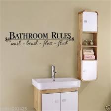 großhandel badezimmer regeln türschild vinyl zitate schriftzug worte wandaufkleber badezimmer wc waschraum dekoration wohnkultur aufkleber kunst