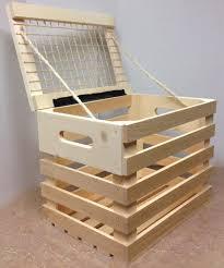 Rustic Wood Picnic Basket Crate Rope Hinged Lid Display Bottle Product