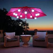 outdoor umbrella lights with solar lights ideas