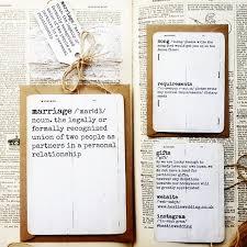 Dictionary Page Rustic Wedding Invitation Crafty Bacon