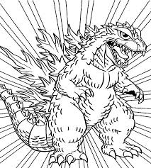 Godzilla Coloring Pages For Kids