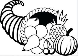 Cornucopia Fruits And Vegetables Coloring Pages Page Preschool Fruit Perfect For Your Print