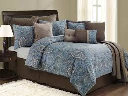 Brown And Blue Paisley Bedding 1840